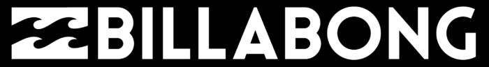 Billabong logo, black background