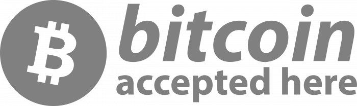 Bitcoin accepted here logo btc