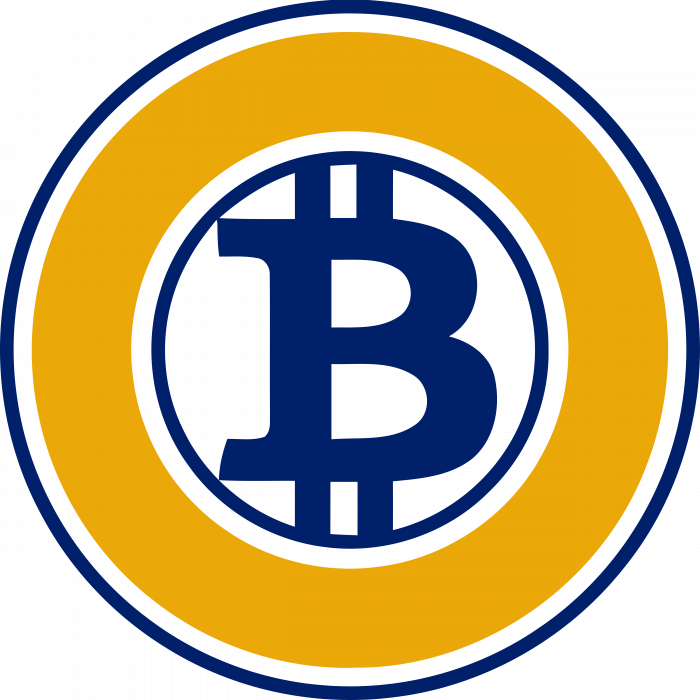 Bitcoin logo gold