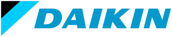 Daikin logo, white background