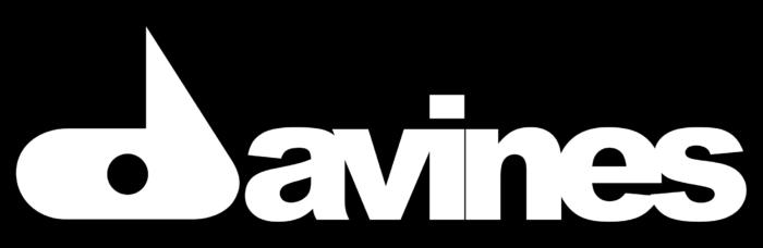 Davines logo, black bg