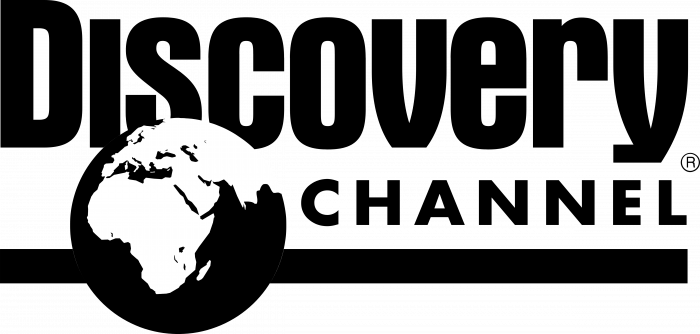 Discovery Channel logo black