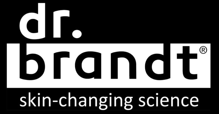 Dr. Brandt logo, black bg