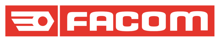 Facom logo, red