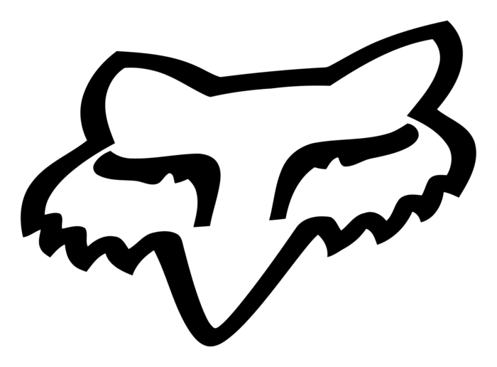 Fox Racing logo, head, white-black