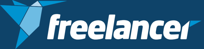 Freelancer.com logo, blue background