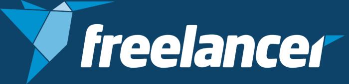 Freelancer.com logo, blue background