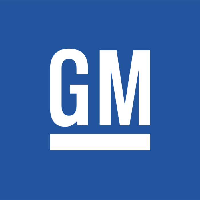 GM logo, blue (General Motors)