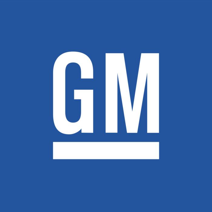 GM logo, blue (General Motors)