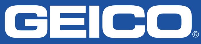 Geico logo, blue background