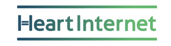 Heart Internet logo, white background