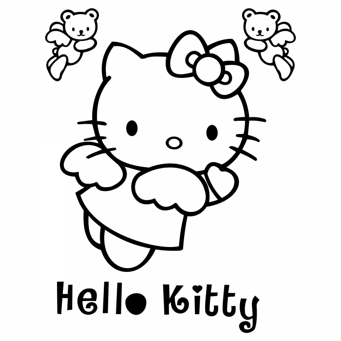 Hello Kitty logo black
