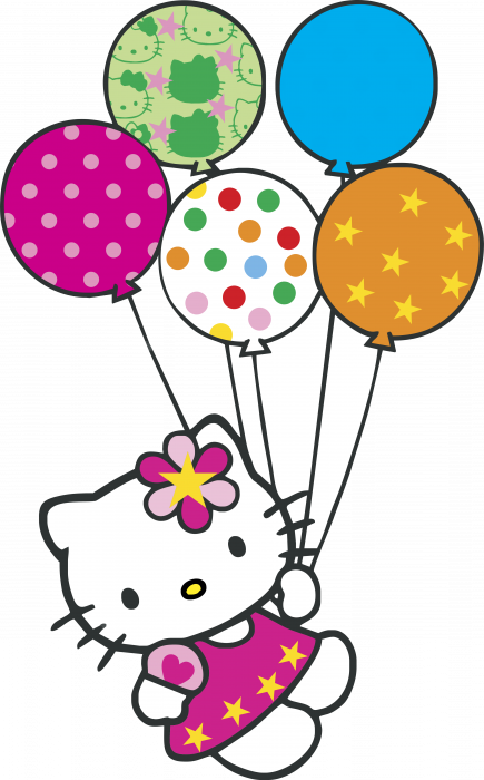 Hello Kitty logo globitos