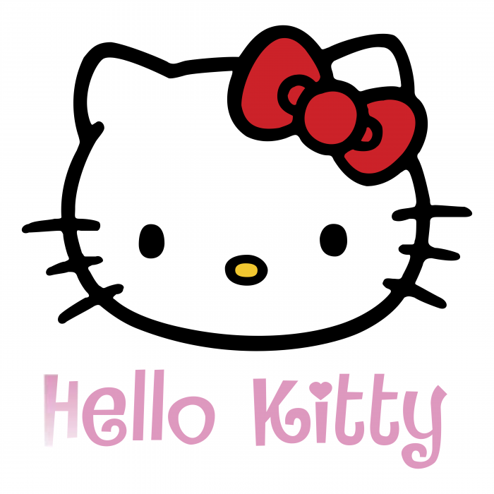 Hello Kitty logo pink
