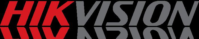 Hikvision logo, shadow