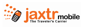 Jaxtr Mobile logo, slogan (The Traveler's Carrier)