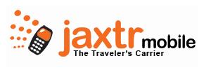 Jaxtr Mobile logo, slogan (The Traveler's Carrier)