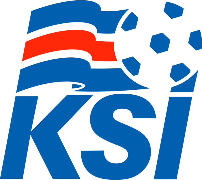 KSI, Iceland national football team logo, crest, logotype