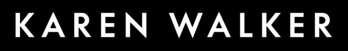 Karen Walker logo, black