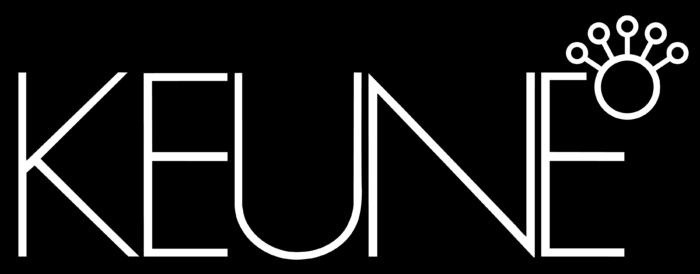 Keune logo, black background