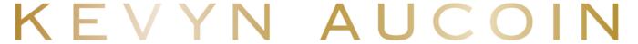Kevyn Aucoin logo, golden