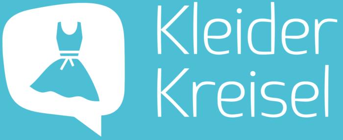 Kleider kreisel logo, blue background (Kleiderkreisel)