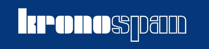 Kronospan logo, blue bg