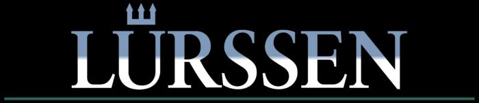 Lurssen logo, black background