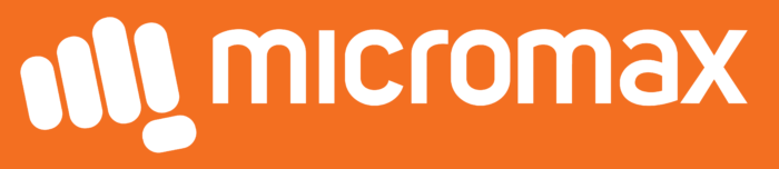 Micromax logo, orange background