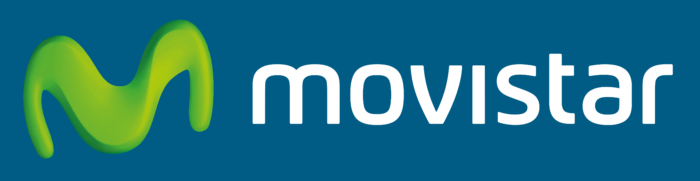 Movistar logo, logotipo, blue background