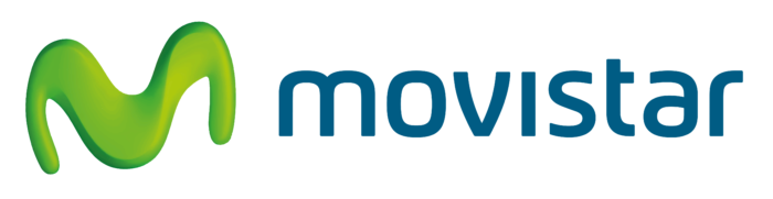 Movistar logotipo, logo, white background