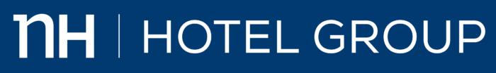 NH Hotel Group logo, blue background