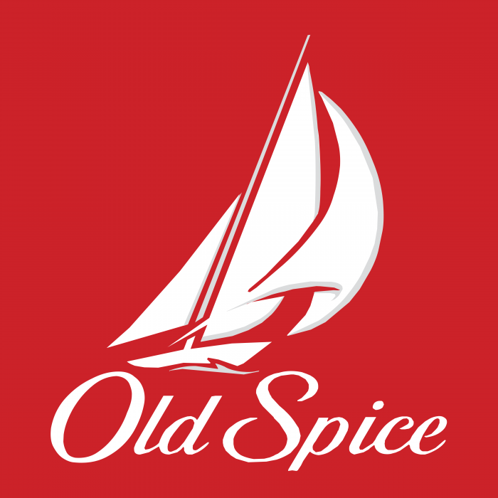 Old Spice logo red