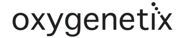 Oxygenetix logo, black