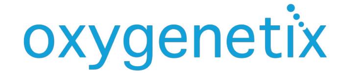 Oxygenetix logo, blue