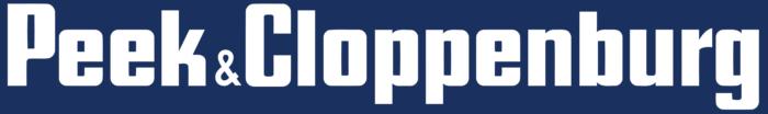 Peek and Cloppenburg logo, white-blue
