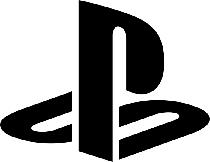 PlayStation logo, black