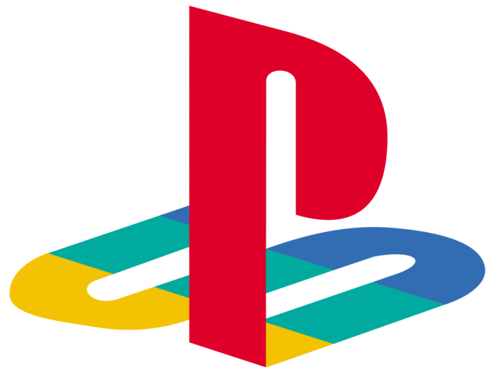 Playstation logo, logotype, emblem, colour