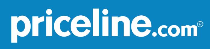 Priceline logo, blue bg (priceline.com)