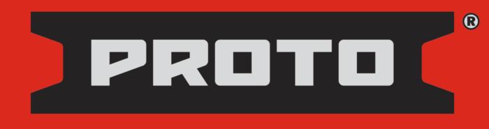Proto logo, red bg