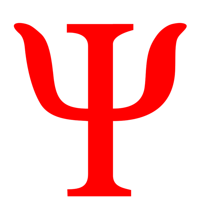 Psychology logo, red