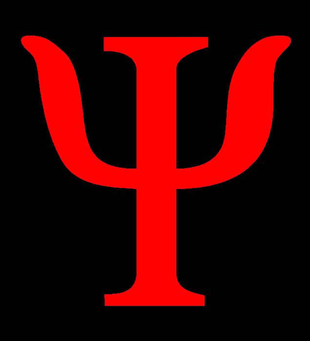 Psychology logo, red