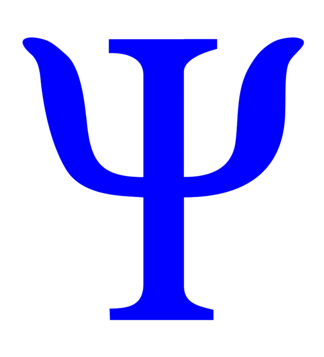 Psychology symbol, logo, blue
