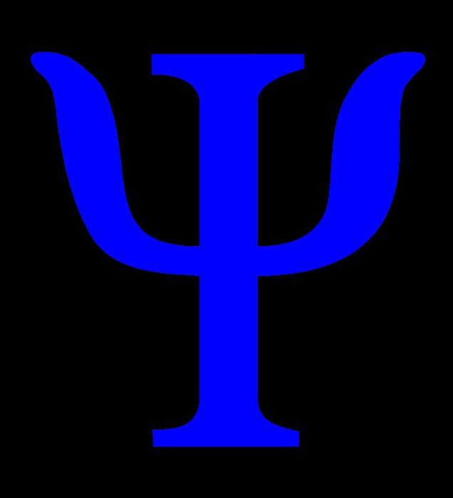 Psychology symbol, logo, blue