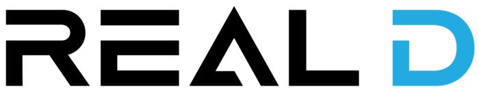 Real D logo, white background