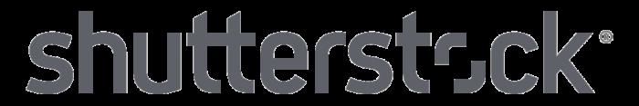 Shutterstock logo, gray