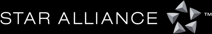 Star Alliance logo, black background