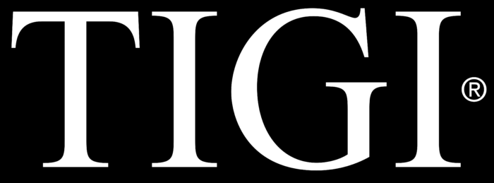TIGI Professional logo, black background
