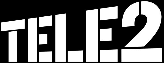 Tele2 logo, black background