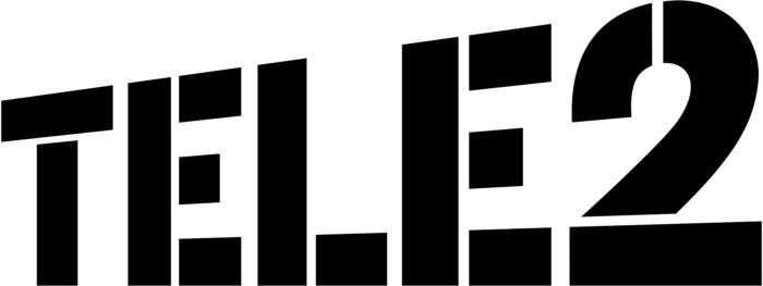 Tele2 logo, white background